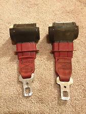 Red Rear Lap Style Seat Belts 1982-1988 Third Gen Camaro Firebird