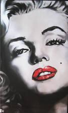 QUADRO MODERNO POP ART MARILYN MONROE DIPINTO A MANO OLIO SU TELA CON TELAIO