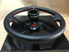Black Center Deep Steering Wheel + Pro Armor Hub Black Polaris RZR 800/900/1000