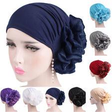 Cáncer de flores de mujeres musulmanas Chemo Hijab Bufanda de Cabeza de pérdida de cabello de sombrero turbante Cap Wrap