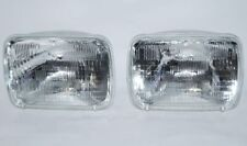 7X6 Halogen Sealed Beam Hi / Low Beam Glass Headlights Headlamp Light Bulbs Pair