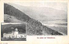4264) UN SALUTO DA VALLOMBROSA (FIRENZE). VIAGGIATA NEL 1909. 2 VEDUTINE.
