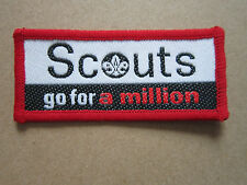 Go For A Million Woven Cloth Patch Badge Boy Scouts Scouting