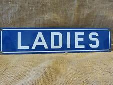 Vintage Porcelain Ladies Sign > Antique Women Garage Gas Station Restroom 9664