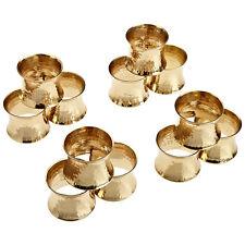 Hammered Gold Napkin Ring 12pc Set Wedding Dinner Party Table Serviette Holder