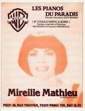 MIREILLE MATHIEU - LES PIANOS DU PARADIS -1971 - EXC ETAT PROCHE DU NEUF