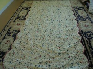 Cute Floral Whole Cloth Quilt
