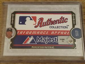 2016 Topps Museum MELKY CABRERA MOMENTOUS MATERIAL LAUNDRY TAG PATCH 1/1 YANKEES
