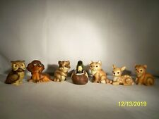 Vintage Lot Of 6 Uc Cti Small Ceramic Animal Figurines Japan and Duck