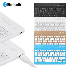 Ultra Slim Rechargeable Bluetooth Universal Keyboard for Windows/iOS/Android