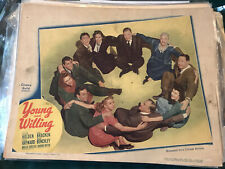 """Young And Willing 1943 United Artists 11x14"""" lobby Susan Hayward William Holden"""
