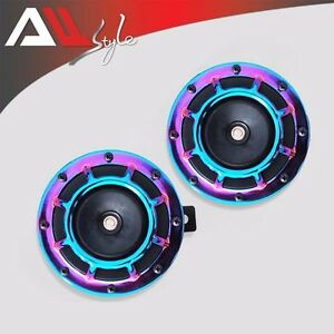 2PC NEO Super Loud Compact Electric Blast Tone Hella Horn For CAR/TRUCK 12V