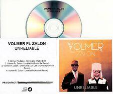 VOLMER FT. ZALON Unreliable 2106 UK 4-trk promo test CD