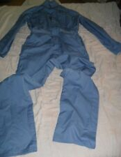 DURABLE PRESS MEN'S BLUE LONG SLEEVE WORK COVERALLS 42 REGULAR MADE IN U.S.A.!