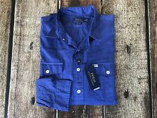 Polo Ralph Lauren Beach Twill Classic Fit Shirt Charter Blue Mens XL New