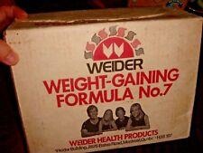 1970's Vintage WEIDER Formula No.7 Empty Carton Box
