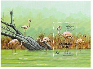 "BARBUDA  $5 Birds ""Barbuda Mail"" Mini Sheet   MINT NH"
