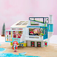 Rolife Moden Wooden Dollhouse DIY Toy for Girls Teddy Doll Miniature Furniture
