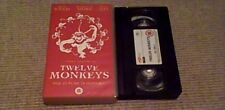 TWELVE MONKEYS 4FRONT UK PAL VHS VIDEO 1999 Terry Gilliam Bruce Willis Brad Pitt