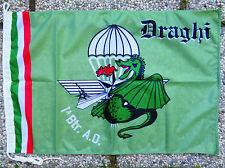 "Bandiera Stemma ""1^ BTR. A.O. DRAGHI / ""185° RGT. PAR. RAO FOLGORE"" - (50x75)"