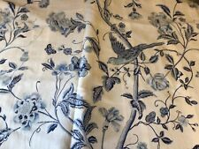 DOUBLE DUVET COVER SET Fm LAURA ASHLEY. 100% COTTON. WHITE & BLUE. BIRDS PATTERN
