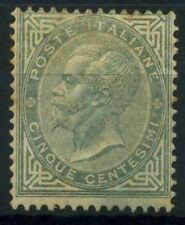 Italia Regno 1863 Sass. L16 Nuovo * 40% grigio verde 5c