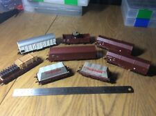 8 x Fleischmann HO / OO track cleaner wagons and cargo wagons