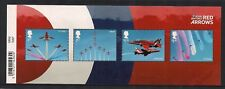 2018 GB QE2 BARCODE STAMP MINIATURE SHEET THE RAF CENTENARY RED ARROWS MNH