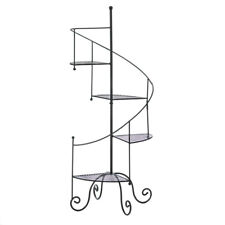 SPIRAL STAIRCASE 4 tier Shelf Flower pot planter shelves pedestal Plant Stand