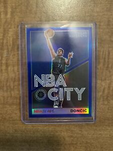 🔥 2019-20 HOOPS PREMIUM STOCK LUKA DONCIC NBA CITY BLUE PARALLEL PRIZM 🔥