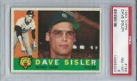 1960 TOPPS #186 DAVE SISLER, PSA 8 NM-MT, DETROIT TIGERS,  L@@K !