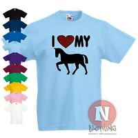 Personalised Kids Horse Riding T-Shirt Add You and Your Horses Names!