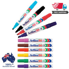 Artline 90 Permanent Markers Assorted Colours Box 12