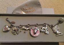 Vintage Vivienne Westwood Charm Bracelet Chase Me Kiss Me Woo Me