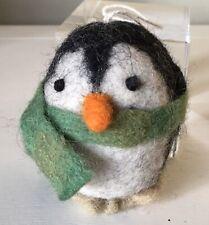 Main soufflé et peint à la main Arbre de Noël Babiole Décoration Pingouin 13 cm NEUF