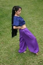 XL Purple Tribal Belly Dance Dancing Harem Balloon Hippie Yoga Genie Baggy Pants