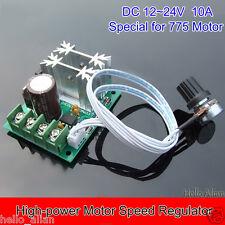 DC 12V 24V 10A High-power DC Motor Speed Regulator Controller Switch Steuerungen