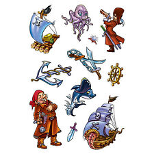 Herma Temporary Tattoos Funny Pirates 1 Stickers Sheet 6767