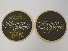 1981 Brewery Coaster ~ Adolph COORS Brewing Co Herman Joseph's 1868 Premium BEER