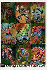 1994 Marvel Universe Trading Cards Powerblast Card Set (9)
