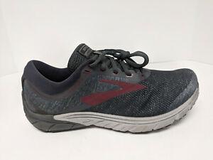 Brooks PureCadence 7 Running Shoes, Ebony/Dark Red/Black, Mens 8.5 M