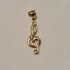 10k Music Note Pendant - 10k Solid Gold Jewely Scrap