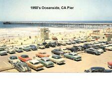 1950's Oceanside, CA   Beach Scene Refrigerator  Magnet