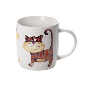 Cat Mug Cup Coffee Tea Hot Drinks Porcelain China 356ml Gift Cat Animal Lover