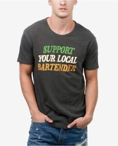 LUCKY BRAND Soutien Votre Local Barman Jersey Souple T Shirt Petit