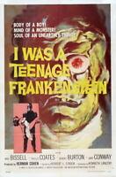G4133 I Was Teenage Frankenstein Movie 1 Vintage Laminated Poster DE