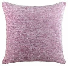 EX John Lewis Plain Chenille 45cm X 45cm Cushion Cover With Inner Pad- Purple