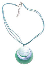 Bahama Mama-sublime Blue Shell Trio/ Multi Stranded Blue Necklace(Zx54/224)