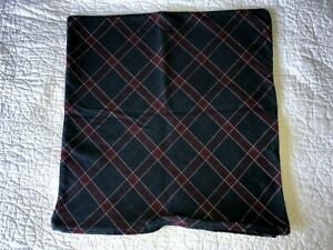 IKEA INGERILSE Slate Bue/Red Reversible Cushion Pillow Cover 20x20 inches EUC!
