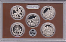 2012-S NATIONAL PARK QUARTER PROOF SET 5-Coins CN-Clad